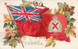 Canada - Union Jack Flag Drapeau - Coats Of Arms - Armoiries - R. Tuck Series 2911 - Embossed - Postcards