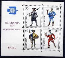 SWITZERLAND 1974 INTERNABA Block MNH - Switzerland