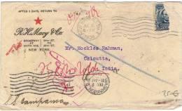 L-US-30 - ETATS-UNIS Lettre à Destination De Calcutta Retournée à L'expéditeur 1906 - Vereinigte Staaten