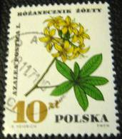 Poland 1967 Flower Azalea Pontica L 10zl - Used - 1944-.... Republic