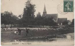 CPA  BARQUET   Place De L´Eglise - Francia