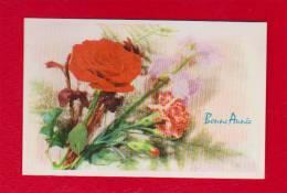 Petite Carte  Bonne Année  Fleurs - Anno Nuovo