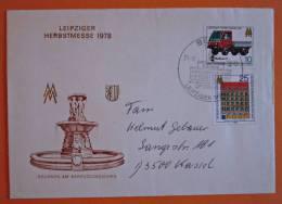 DDR Brief Leipziger Herbstmesse Jena - Kassel 1978 - DDR