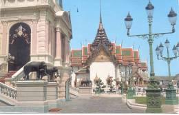 THE ROYAL GRAND PALACE THAILAND CARTE CIRCULEE 1965 A MONTEVIDEO URUGUAY RARISIME CIRCULATION - Thailand