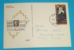 CROATIA - HOMELAND OF THE CRAVAT ( Croatia Postal Stationery - Travelled ) Cravate London INT. PHILATELIC EXHIBITION - Textile