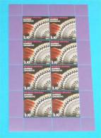 THE LACE OF HVAR  ( Croatian 8-stamp Sheetlets MNH** ) Dentelle Encaje Spitze Merletto Pizzo Renda Kant Gourds Textile - Textile