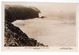 POSTCARD PERRANPORTH CLIGGA POINT AND MAN C029 W F ELLIS BODMIN 1948 CORNWALL - England