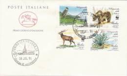 """Fdc Poste Italiane  """"Cavallino"""" :SALVAGUARDIA DELLA NATURA  - 1991;  No Viaggiata; A_Torino - F.D.C."""