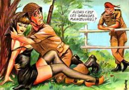 Humour - Militaire - Carrière - Alors C'est Les Grandes Manoeuvres (50406) Médaille D´or - Carrière, Louis