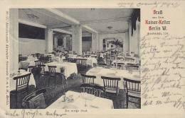 ## Germany PPC Berlin Gruss Aus Dem Kaiser-Keller BERLIN W. 1912 To SONDERBURG Denmark (2 Scans) - Non Classés