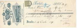 BELGIQUE Reçu TP 47 -  Illustré Médailles EXPOS BRUXELLES 1880 Et ANVERS 1885 - Maison De Blanc  Lefebvre  --  2950 - Expositions Universelles