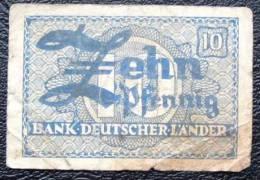 10 Pfennig Allemagne - 10 Pfennig