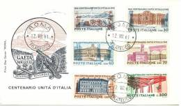 FDC - ROMA - UNITA' D'ITALIA  1961  - ITALIA REPUBBLICA - FIRST DAY COVER - FDC