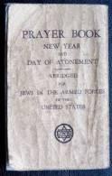 Rare Livre De Prière Pour Les Soldats Juifs Dans L'armée  Américaine Judaica Philadelphia Penna - Forces Armées Américaines