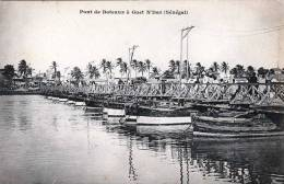 SENEGAL, Bootsbrücke In GUET NDAR (9.5 Km Von Saint-Louis Entfernt), 1905 - Senegal