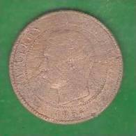 10  Centimes  FRANCE   Napoléon  1854 MA   (PRIX FIXE)     ( AR16) - D. 10 Céntimos