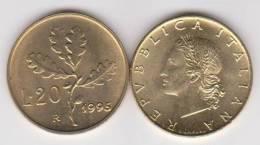 ITALIA    20 Liras 1.995  Aluminio Bronce KM#97.2 SC/UNC    DL-10.268 - 20 Lire