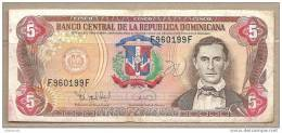 Rep. Dominicana - Banconota Circolata Da 5 Pesos De Oro - 1995 - Dominicana