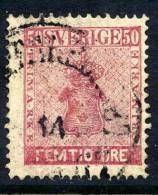 SWEDEN 1858 50 öre Pale Rose, Fine Used..    Michel 12a - Used Stamps