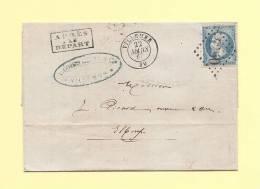 Villemur - 30 - Haute Garonne - Gc 4250 - 22 Mars 1867 - Apres Le Depart - Facture Illustree - Marcophilie (Lettres)
