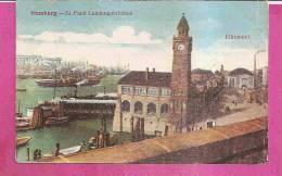 HAMBURG   -   ** SANKT PAULI LANDUNGSBRÜCKEN Und ELBE TUNNEL **    -   Verlag : W.F. Aus HAMBURG   N°/ - Altona