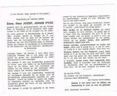 BLANKENBERGE - MOORSLEDE - LENDELEDE  , Doodsprentje Van PASTOOR Jozef PYCK  + 1970 - Religion & Esotericism