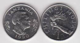 Tanzania   1 Shillingi 1.990    Niquel Acero   KM#22   SC/UNC         T-DL-10.278 - Tanzania
