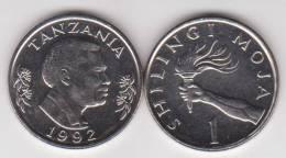 Tanzania   1 Shillingi 1.992    Niquel Acero   KM#22   SC/UNC         T-DL-10.279 - Tanzanie