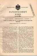 Original Patentschrift - J. Schäfer N Oberlichtenau B. Pulsnitz I.S., 1899 , Frisé- Und Noppenbänder !!! - Historische Documenten