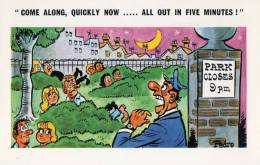 """PARK ILLUSTRATEUR PEDRO """" COME ALONG, QUICLY NOW ... ALL OUT IN FIVE MINUTES ! """" - Humour"""