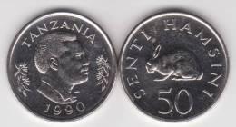 Tanzania 50 Senti 1.990 Ni St KM#26 SC/UNC        T-DL-10.280 - Tanzanie