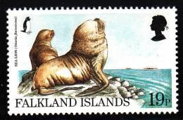 Falkland Islands MNH Scott #687 19p Sea Lion (Otaria Flavescens) - Endangered Species - Falkland