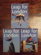 Leap For London Olimpic Games 2012 Lot De 3 Cartes Postales - Publicidad