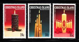 Christmas Island MNH Scott #145-147 Set Of 3 Christmas 1983 - Candles - Christmas Island