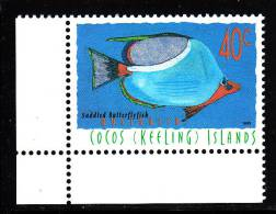 Cocos Islands MNH Scott #306 40c Saddled Butterflyfish - Cocos (Keeling) Islands