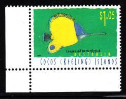 Cocos Islands MNH Scott #313 $1.05 Longnosed Butterflyfish - Cocos (Keeling) Islands