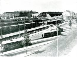 Autobus Crossley, Scania Vabis, Salland, Zwolle Station, Trein, Jaren '50, Reproductie - Automobiles
