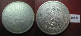 MEXICO 1 PESO DE PLATA MEXICO 1909 GV , PORFIRIANO - Monedas