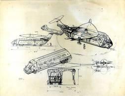 Rudolf Das: Ontwerp Voor Combinatie Van Bus En Helicopter (foto-reproductie) - Transports
