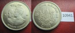 Thailandia 1 Bath , 2504 / 1961dC - Monedas