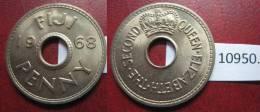 Fiji 1 Centimo O Penny 1968 - Monedas