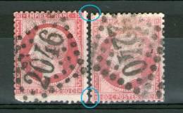 2 N°24°_ Cote=80.00_Terne Et Rose Vif Plus Grand_2eme Choix (dents)_GC 2046-2240 - 1862 Napoléon III