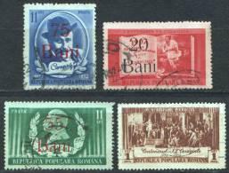 Rumänien; 1952; Michel 1295/8 O; Caragiale 4 Stück Bild3 - 1948-.... Republiken