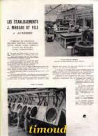 ETS J. MOREAU ET FILS / CHOCOLAT DRAGEES BISCUITS CONFISERIE .../ AUXERRE  / ARTICLE   PUB 1953 - Vieux Papiers