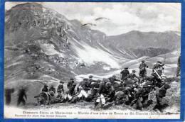 05 CHASSEURS ALPINS EN MANOEUVRE CARTE PRECURSEUR MONTEE D' UNE PIECE DE CANON AU GRAND CHARVIER ( BRIANCONNAIS) - Regiments