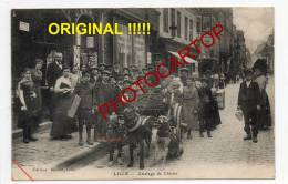 Attelage De CHIENS-LILLE-carte Originale Voyagee En Feldpost-Type-Metier-Animaux-Animation- - Lille