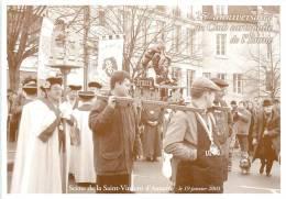 AUXERRE 25 EME BOURSE DE CARTES POSTALES DU 23 FEVRIER 2003 SCENE DE LA SAINT VINCENT LE 19 JANVIER 2003 - Bourses & Salons De Collections