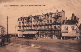 Wenduyne 214: Place De La Station Et Hôtel Des Alliés 1922 - Cartes Postales