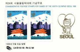 COREE DU SUD SOUTH KOREA 88 BF YT 420 KPC C1171a JO SEOUL 1988 OLYMPICS GAMES Colombes Ville Doves Above The City - Ete 1988: Séoul