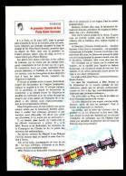 Format 27 X 19 Cm / Buffalo BILL (bison Animal) / Le Premier Chemin De Fer PARIS-SAINT-GERMAIN ( Train ) //  VP 1/52 - Old Paper